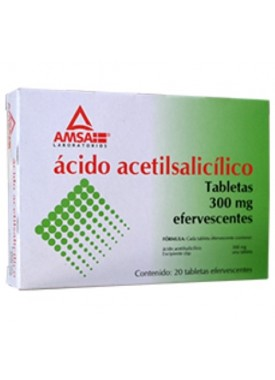 ACIDO ACETILSALICILICO TABLETAS EFERVESENTES C/20