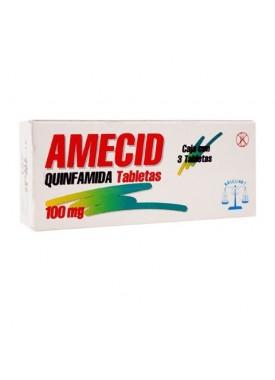 AMECID TABLETAS 100 MG C/3