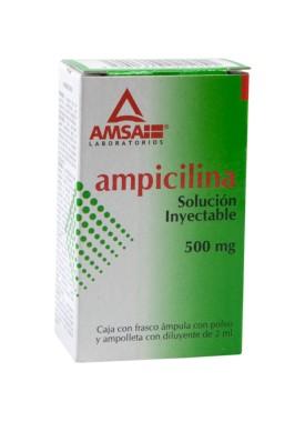 AMPICILINA GI INYECTABLE 500 MG C/1 AMP.