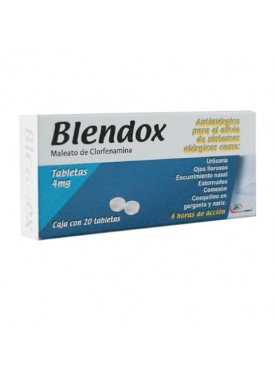 BLENDOX TABLETAS 4 MG C/20