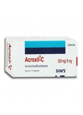 ACROXIL C CAPSULAS 500 MG. C/12