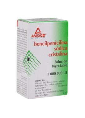 BENCELPENICILINA SODICA CRISTALINA GI INYECTABLE 5