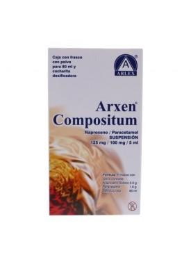 ARXEN COMP. SUSP. 125 mg-100 MG/5ML CAJA C/FRASCO
