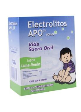 ELECTROLITOS APO LIMA-LIMON CAJA C/4 SOBRES