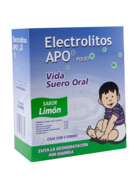 ELECTROLITOS APO LIMON CAJA C/4 SOBRES