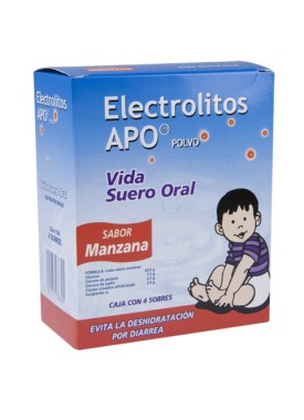ELECTROLITOS APO MANZANA CAJA C/4 SOBRES