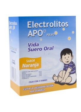 ELECTROLITOS APO NARANJA CAJA C/4 SOBRES