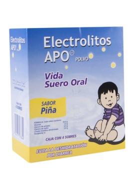 ELECTROLITOS APO PIÑA CAJA C/4 SOBRES