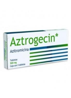 AZITROMICINA (AZTROGECIN) TABLETAS 500MG. C/3