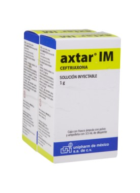 AXTAR 1 GR. I.M. SOL. INY. C/1 AMP.