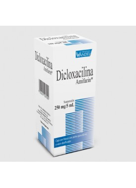 DICLOXACILINA (AMIFARIN) SUSPENSION.250 MG. 60 ML