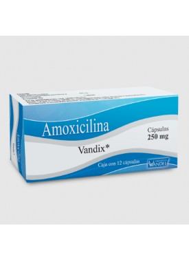 AMOXICILINA (VANDIX) CAPSULAS 250MG C/12