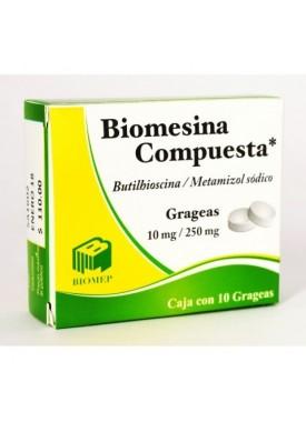 BIOMESINA COMPUESTA GRAGEAS 10/250 MG C/10
